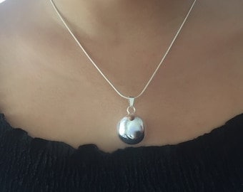 Sterling Silver Bell Charm Necklace