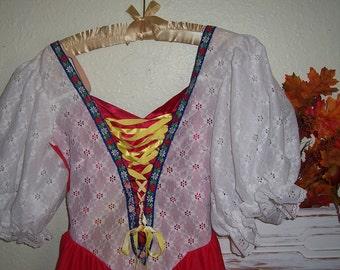 Halloween Costume Bavarian Frauline Austrian Alpine Beer Fest  Costume Size Small