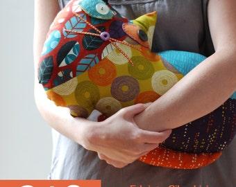 Cat 3 - stuffed animal / PDF Patchwork Sewing Pattern