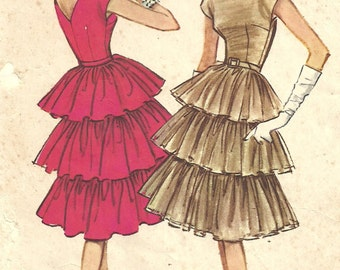 McCalls 5135 // Vintage 50s Sewing Pattern // Evening Cocktail Dress // Size 14 Bust 34