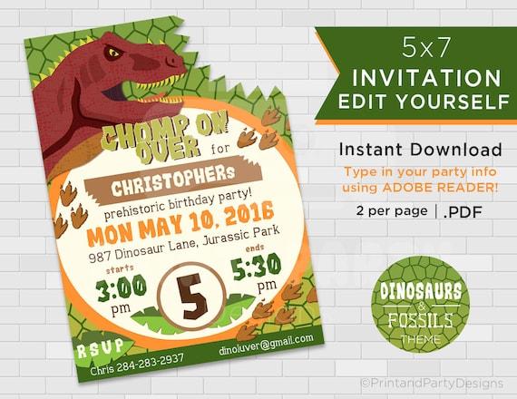 Dinosaur birthday invitations dinosaur invitation dinosaur te gusta este artculo solutioingenieria Gallery