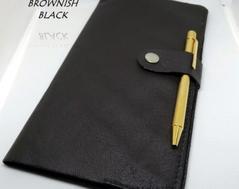 Journal Cover in Genuine leather. Various colours available. UK Seller and maker.