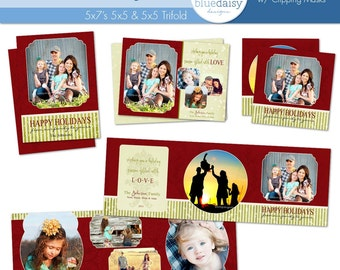 Traditional Christmas Card Collection - Photographer Photoshop Templates