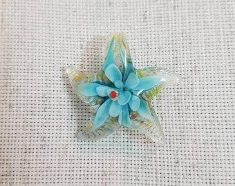 Glass Star Fish Needle Minder