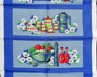 Save The Children.irish Linen Tea Towel. Blue