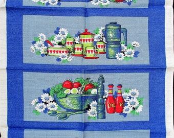 Save The Children.irish Linen Tea Towel. Blue