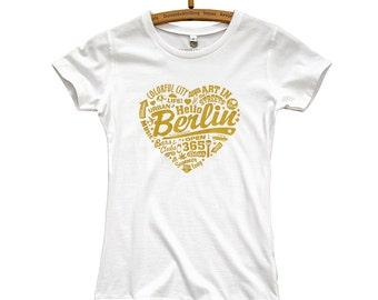 T-Shirt Berlin Golden Heart