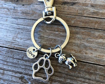 Dog Love Keychain, Puppy keychain, Beravement, Gift for her, Gift for mom, Gift for wife, Christmas gift, Stocking Stuffer