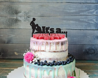 Baby shower Cake Topper- Customizable baby shower Gender Reveal Topper Cake Topper- Personalized baby shower cake topper- Baby shower