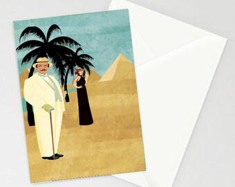 A6 Poirot Death on the Nile Card