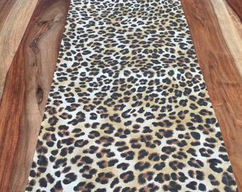Leopard Table Runner- Fall Harvest Runner- Thanksgiving