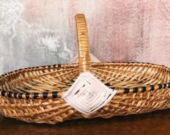 Bohemian Hand-Painted Basket