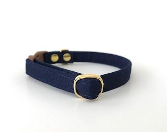 Navy Breakaway Cat Collar