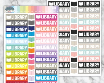 SIM13 | Library  [Planner Stickers Simple edition]