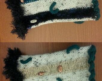 Alzheimer's Dementia Sensory Twiddle Activity Muff Hand Knit Advanced Cognitive Impairment