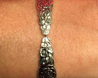 Silver Bouquet 1960 Spoon Bracelet