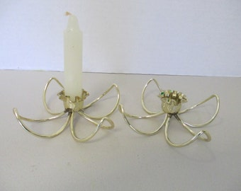 Vintage Wire candle holders set of 2 used