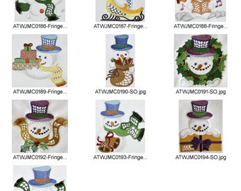 New-Style-Snowmen ( 10 Machine Embroidery Designs from ATW )