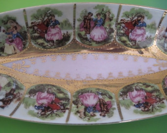 Vintage Decorative Dresser Vanity Catch All Dish