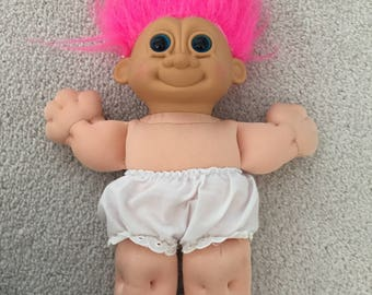 Vintage plush troll doll