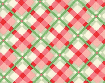 Swell (31122 18) Green Red Plaid by Urban Chiks