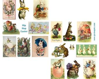 Hip Hop Easter Digital Collage Set