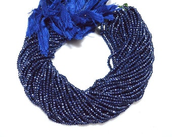 """1 Strand Mystic Sapphire Pyrite Faceted Rondelle Beads , Mystic Sapphire Pyrite Rondelle Beads , 3.50 - 4 mm , 13"""" - MC987"""