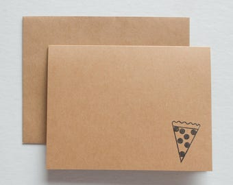 cute pizza note cards, cute pizza stationery, pizza stationary, stationary for guys, note cards for him, novelty stationery, stationary set