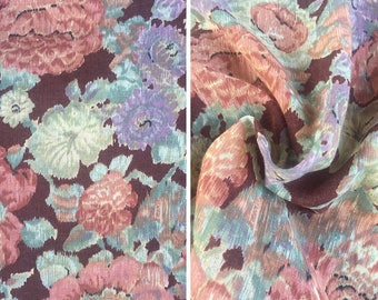 Vintage fabric by the yard | Texfi soft floral fabric - price is per yard