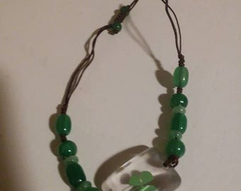 Four leaf clover braclet perfect for saint Patrick's day