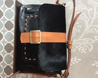 Black cowhide bag, cowhide crossbody, leather crossbody bag, black shoulder bag, Messenger, soft leather bag, cowhide bags, must for woman