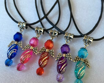 ApoloAngels Pendant Necklace, Guardian Angel,Choose color...early easter sale.