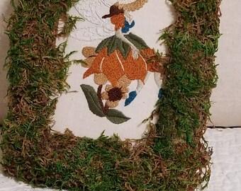 Fall Faery hand embroidery