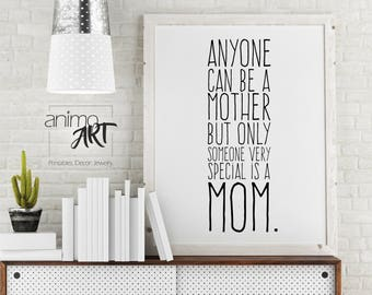 Mother's Day mural for Mama, gift for Mother's Day, poster with saying, grandma, Deco to make yourself, mural, mother, print template