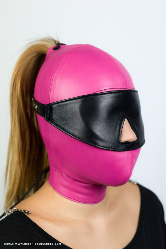 Leather Bondage Blindfold with Buckle (MATURE)