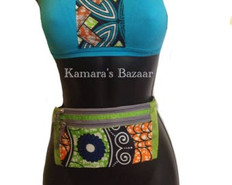 African Flower Jogger Fanny pack