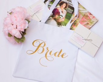 Chic and Modern Bride to Be, Bride Bag, Tote, Gift for Bride to be,  Bridal Shower Gift, Bachelorette Party