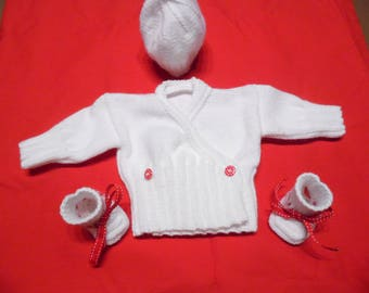 White 3 Pieces for girls or boys birth box