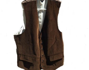 Medium 40 Tommy Hilfiger Brown Vest