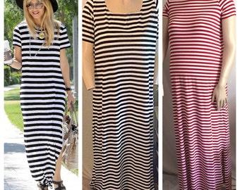T-shirt dress short sleeves or long sleeves, long or short Maxi/ boho /