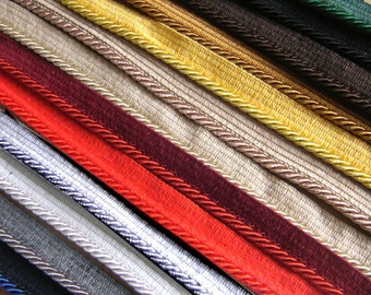 Piping cord 5mm Flanged Piping Cord Rope piping 9 colors Flanged Rope Trimmings Upholstery Piping Cushion Piping rope