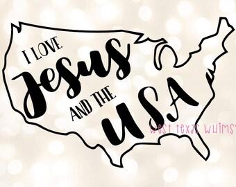 Jesus and the USA SVG, God bless America svg, christian 4th of July svg, kids 4th of july svg, baby 4th of July svg, toddler 4th of july svg