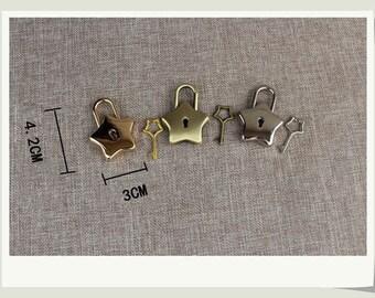 1 PCS Purse Lock, Star Shaped Small Lock / Bag Lock