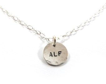 ALF vegan necklace, Vegan necklace, Animal liberation front necklace, sterling silver
