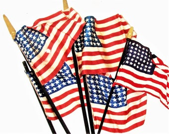 5) 48 Star Flags (5) Total For One Price
