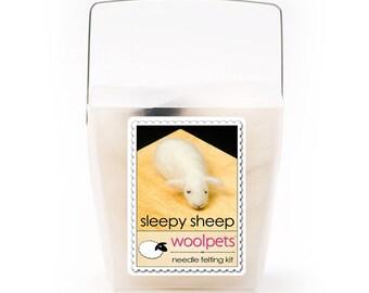 Sleepy Sheep Needle Felting Kit