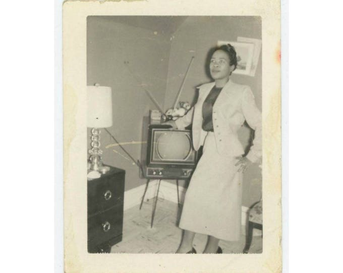 Vintage Polaroid Snapshot Photo: Aunt Esther, c1950s  (710612)
