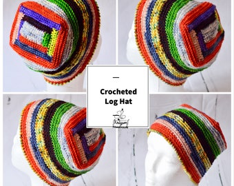 Instant Download - Crocheted Log Hat - PATTERN ONLY