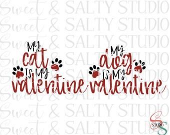 my dog (cat) is my valentine digital file