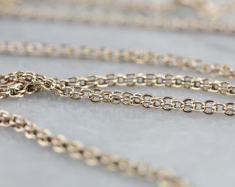 Vintage Gold Rope Chain Necklace 53DW7UYR-R